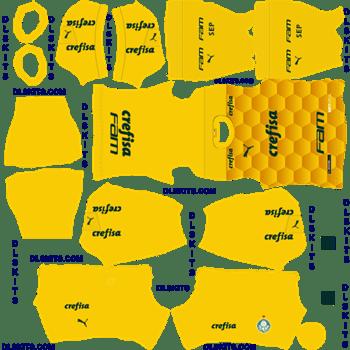 Palmeiras 2020 Goalkeeper Home Dream League Soccer Kits